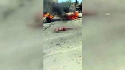 teror saldirisi - AFRİN - Bombalı araçla düzenlenen terör saldırısında 1 kişi öldü Videosu