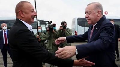 resmi toren -  - Cumhurbaşkanı Erdoğan, Fuzuli'de Aliyev tarafından karşılandı - Erdoğan ve Aliyev, Şuşa'ya yola çıktı