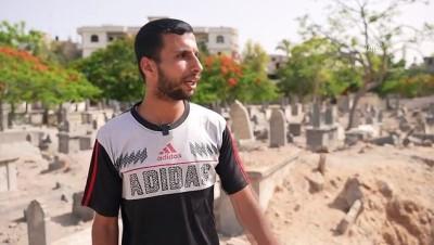 kabristan - GAZZE - İsrail Filistinlileri mezarlarında bile rahat bırakmadı