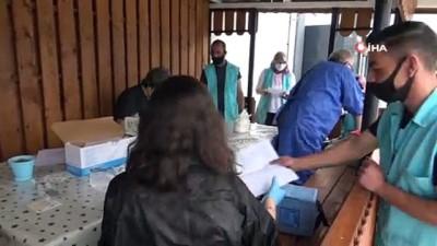 kapali alan -  Bafra'da OSB çalışanlarına aşı