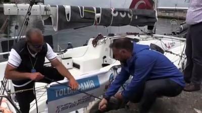 ingiltere - ARTVİN - Yelkenci Tolga Pamir, Türkiye'nin dört denizini aşacağı yolculuğuna Hopa'dan başladı