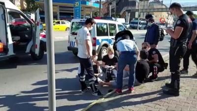 ticari taksi -  Ataşehir'de ticari taksi ,motosiklete çarptı 1 kişi yaralandı