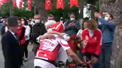 bisiklet turu -  Kıbrıs Gazisi anısına düzenlenen 861 kilometrelik bisiklet turu Ordu'da sonlandı