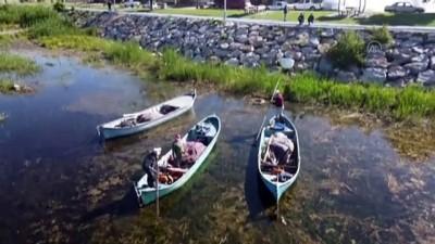 av yasagi - KONYA - Tatlı sularda yeni av sezonunun ilk balıkları kantarda tartıya çıktı