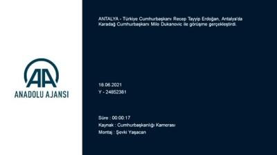 kano - ANTALYA - Cumhurbaşkanı Erdoğan, Karadağ Cumhurbaşkanı Dukanovic ile görüştü Videosu