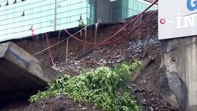yazili aciklama -  Başakşehir Belediyesi'nden çöken yol ve istinat duvarıyla ilgili açıklaması