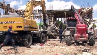 cenaze araci -  Başkent'te inşaatta göçük