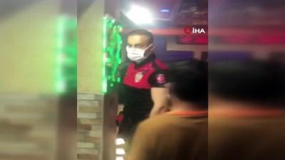 kapali alan -  Korona partisine polis baskını