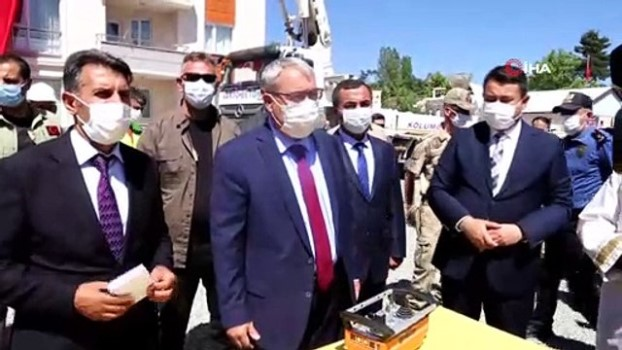 hukumet konagi -  Varto İlçe Emniyet Müdürlüğü binasının temeli törenle atıldı