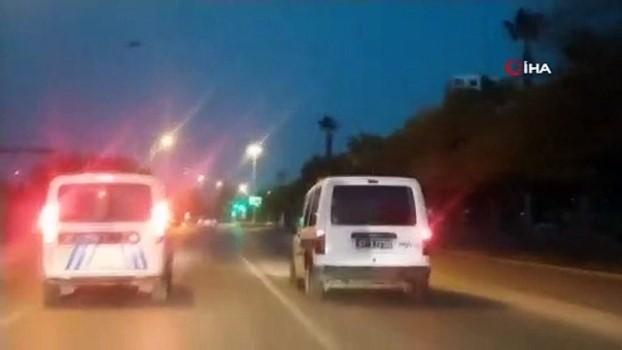 arac plakasi -  Film sahnelerini aratmayan kovalamaca: 25 kilometre sonunda kapandan geçip yakalandılar