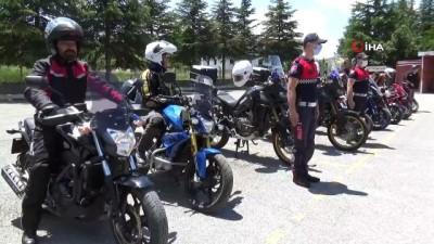 teroristler -  Motosiklet tutkunları Jandarma Teşkilatı'nın Kuruluşunu kutladı