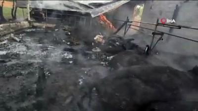 elektrik kontagi -  Besihanede yangın çıktı, 8 büyükbaş, 18 küçükbaş hayvan yanarak telef oldu