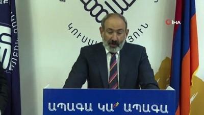 yazili aciklama -  Ermenistan'da, Nikol Paşinyan'dan gece yarısı seçim zaferi konuşması