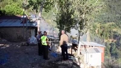 tarim - GÜMÜŞHANE - Örtü yangınında 3 hektarlık alandaki meyve ağaçları ile 4 metruk bina zarar gördü