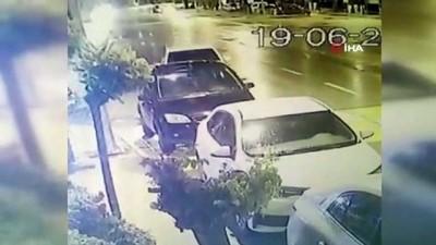 karahisar -  Park halindeki otomobile çarpıp ardına bile bakmadan kaçtı