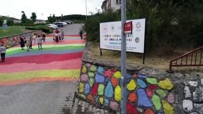 geri donusum - Düzce sokakları gönüllüler ve dezavantajlı grupların bir araya getirilmesiyle renklendi