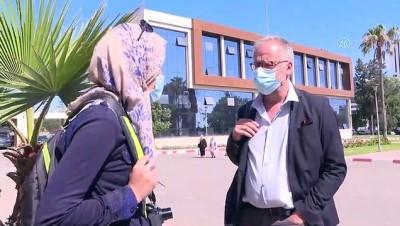 KAZABLANKA - Fas'ta cezaevinde açlık grevi yapan gazeteciye destek gösterisi