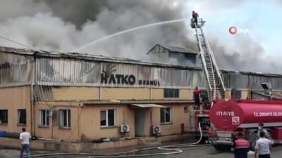 geri donusum -  Osmaniye'de plastik geri dönüşüm fabrikasında çıkan yangın kontrol altına alındı