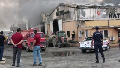 geri donusum -  Osmaniye'de plastik geri dönüşüm fabrikasında yangın