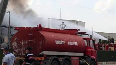 geri donusum - OSMANİYE - Plastik geri dönüşüm fabrikasında çıkan yangın kontrol altına alındı