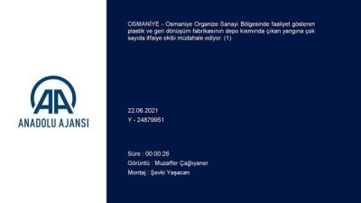 geri donusum - OSMANİYE - Plastik ve geri dönüşüm fabrikasında yangın (1)