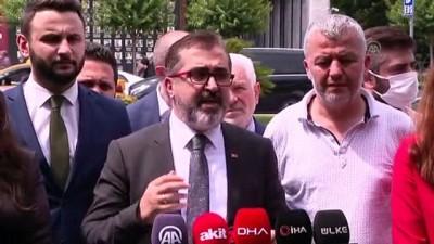calisan kadin - İSTANBUL - AK Parti İstanbul Siyasi ve Hukuki İşler Başkanı Avukat Adem Yıldırım İBB önünde açıklama yaptı (1)