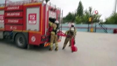 tatbikat -  İtfaiyeden dolum tesisinde yangın tatbikatı gerçeğini aratmadı