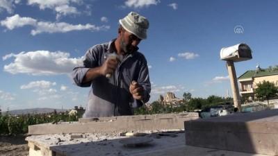 medeniyetler - NEVŞEHİR - Nevşehirli taş ustası tüf kayaları tabloya dönüştürüyor