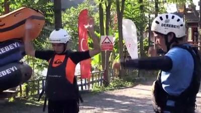 sampiyon - RİZE - Rafting Kadın Milli Takımı, dünya şampiyonasına Fırtına Deresi'nde hazırlanıyor