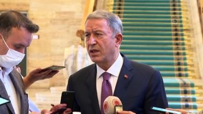 kanun teklifi - TBMM - Milli Savunma Bakanı Akar, Mecliste gazetecilerin sorularını yanıtladı