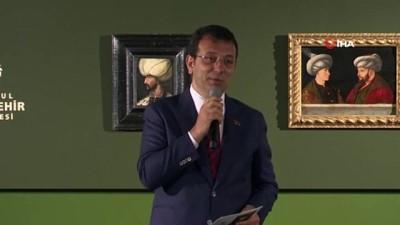 padisah -  Kanuni Sultan Süleyman tablosu, Fatih Sultan Mehmet'in portresinin yanında yerini aldı