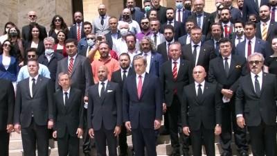 strateji - Galatasaray Başkanı Elmas ve yönetim kurulu Anıtkabir'de