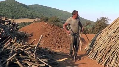 dumanli - GAZİANTEP - Odun kömürü işçilerinin zorlu mesaisi sürüyor