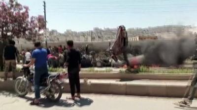 teror saldirisi - AFRİN - Suriye'nin kuzeyindeki Afrin ilçesinde bombalı terör saldırısında 3 sivil öldü Videosu