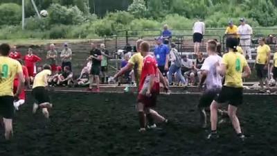 futbol - MİNSK - Beyaz Rusya'da bataklık futbol turnuvası Videosu