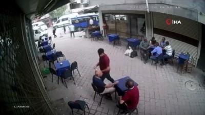 kahvehane -  Bir anda gelen fırtına vatandaşlara zor anlar yaşattı, o anlar kamerada