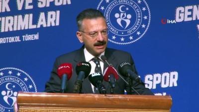 """futbol - Aydın Valisi Aksoy: """"Bu spor yatırımlarının suç ve suçlularla mücadelede bize çok önemli katkılar sağlayacağını biliyorum"""" Videosu"""