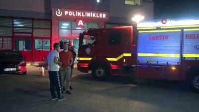 yangin panigi -  Devlet Hastanesinde yangın paniği