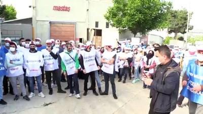 BURSA - Radyatör fabrikasında, TİS görüşmelerinde anlaşma sağlanamaması üzerine grev başlatıldı