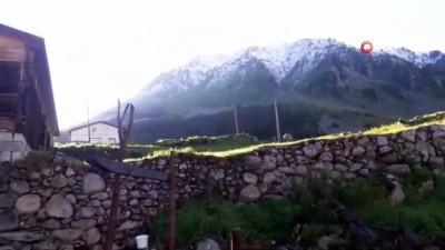 Rize'nin yaylalarında Haziran ayında kar sürprizi