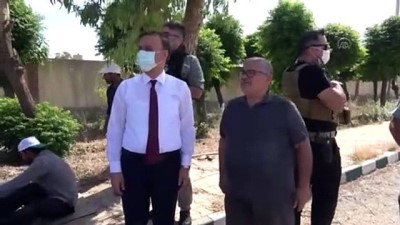 TEL ABYAD - Şanlıurfa Valisi Abdullah Erin, Tel Abyad'da incelemelerde bulundu