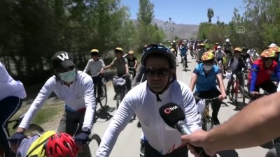 bisiklet turu - VAN - 200 kişi kuraklığa dikkat çekmek için pedal çevirdi