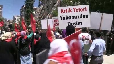 kanaat onderleri - VAN - Aileler çocuklarına kavuşmak için HDP İl Başkanlığı önünde eylem yaptı