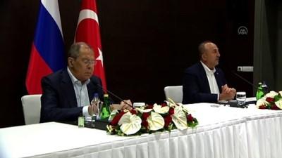avro - ANTALYA - Çavuşoğlu: '(Suriye) sahada sükunetin devamı için Rusya'yla birlikte çalışmaya devam edeceğiz'