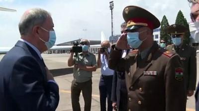 avro - DUŞANBE - Milli Savunma Bakanı Akar, Tacikistan'a geldi