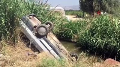 112 acil servis -  Kanala düşen otomobilden burnu bile kanamadan kurtuldu Videosu