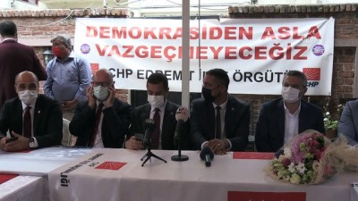 BALIKESİR - CHP Genel Başkan Yardımcısı Oğuz Kaan Salıcı, Balıkesir'de konuştu