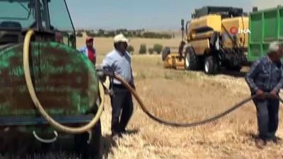 Biçerdöver kaynaklı ekin yangınlarına su tankerli önlem