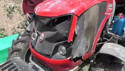 Oğlu traktörle kaza yaptı, kaskodan parasını alamadı