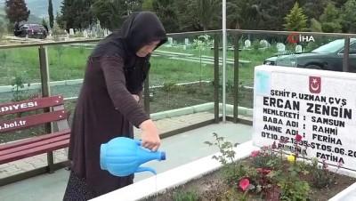 hain saldiri -  Samsunlu Şehit Ercan Zengin mezarı başında anıldı